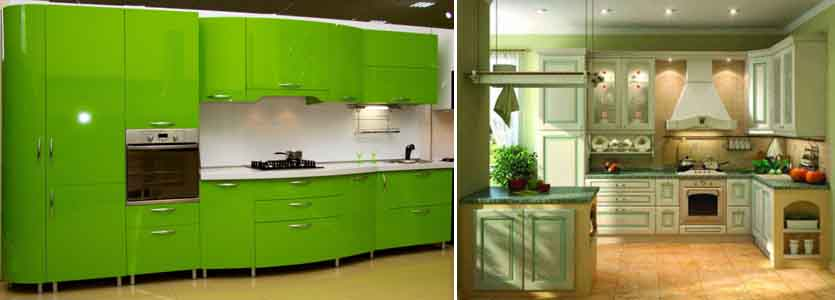 зелёный на кухне
