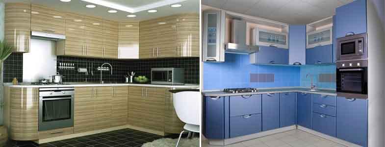 кухонные фасады из МДФ покрытые плёнкой ПВХ