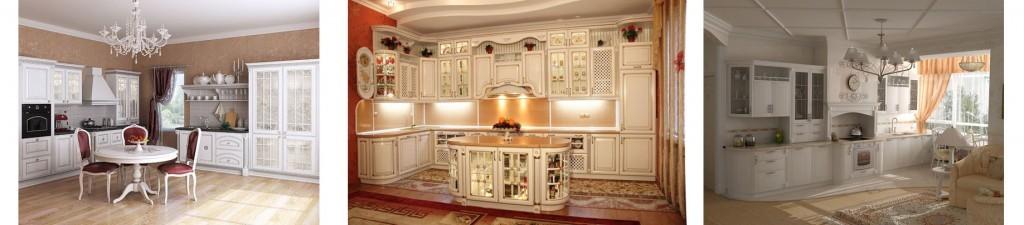 кухни под заказ в белом цвете