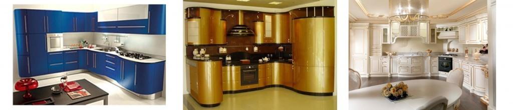 кухни под заказ с радиусами