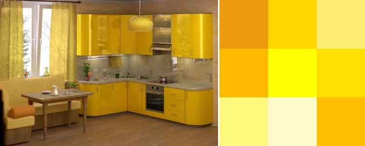 кухни фото в желтом цвете