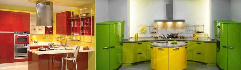 жёлтый с красным и зелёным