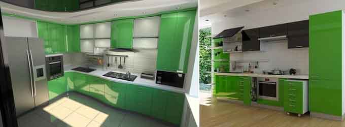 зелёный с серым и чёрным