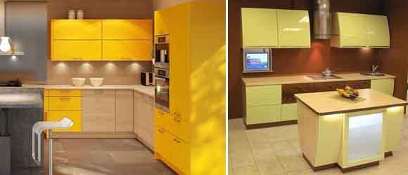 жёлтый с коричневым