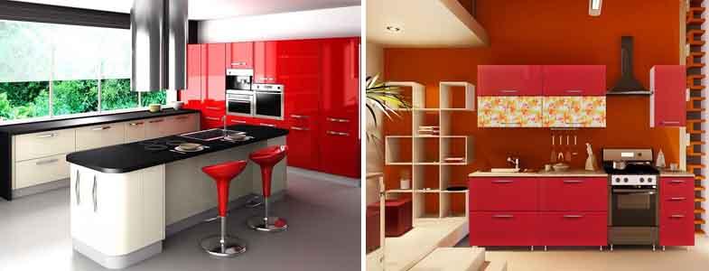 красные кухни