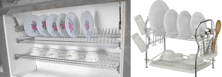 металлические сушилки для посуды