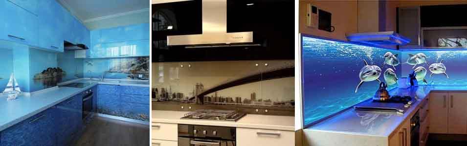 крепление кухонного фартука из стекла