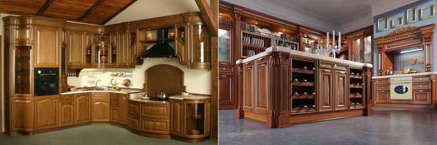 кухни из массива в классическом стиле
