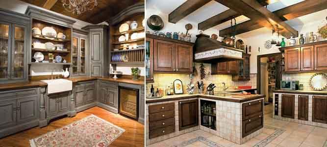 пол на кухне в стиле кантри