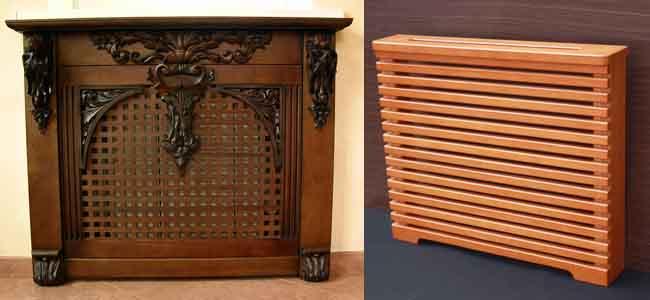 деревянные экраны для радиатора