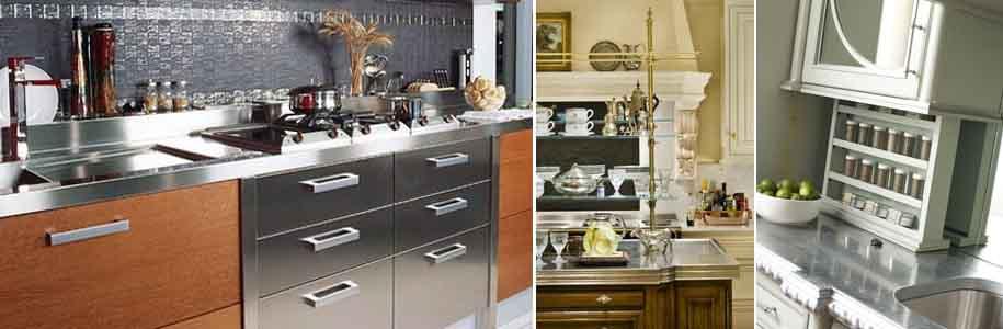 металлическая кухонная столешница