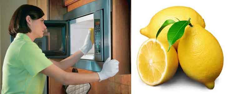 отмыть микроволновую печь