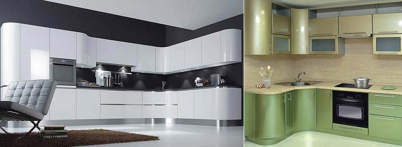 эмалевые кухонные фасады