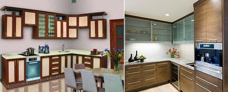 кухонные фасады со стеклом