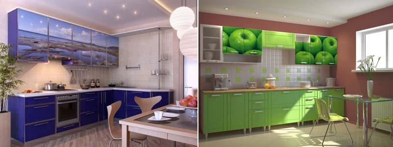 стеклянные кухонные фасады с фотопечатью