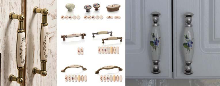 материал и покрытие мебельных ручек