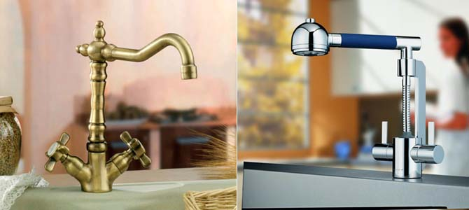 двухвентильный смеситель для кухни