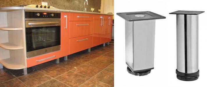 металлические ножки для кухонного гарнитура