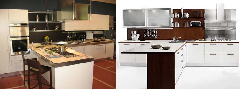 т-образный кухонный гарнитур