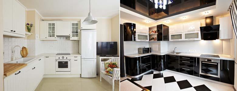 угловые кухни с коробом