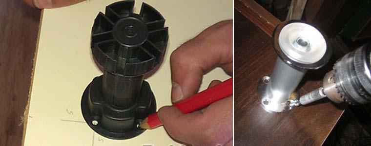 установка кухонных ножек