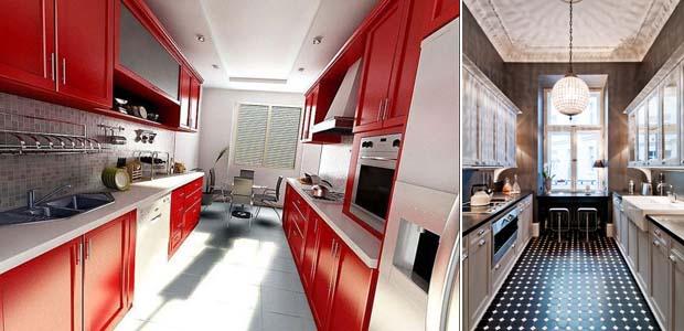 двухрядная кухня