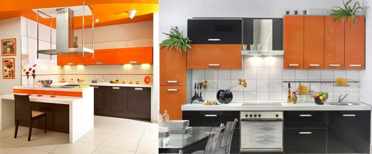 оранжевый на кухне1