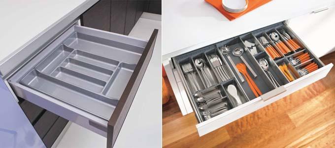 организации для хранения столовых приборов в ящиках