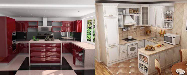 кухня фото п образная