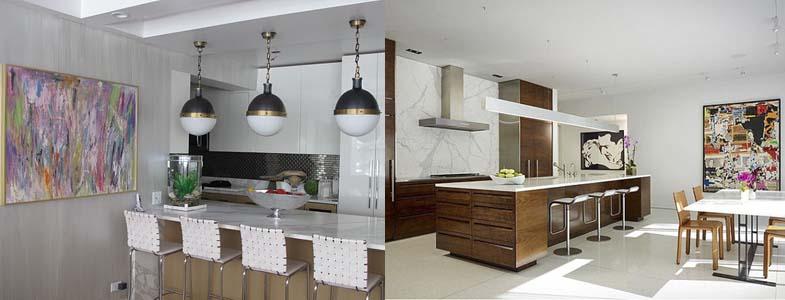 картины в кухонном интерьере