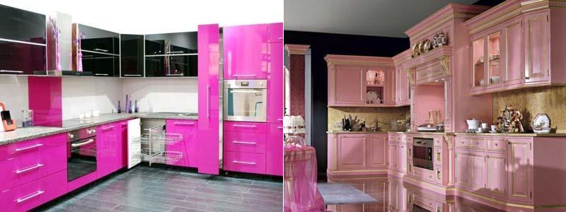 кухня розового цвета