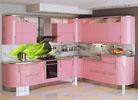 кухня розовый
