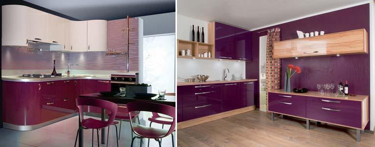 кухня фиолетового цвета