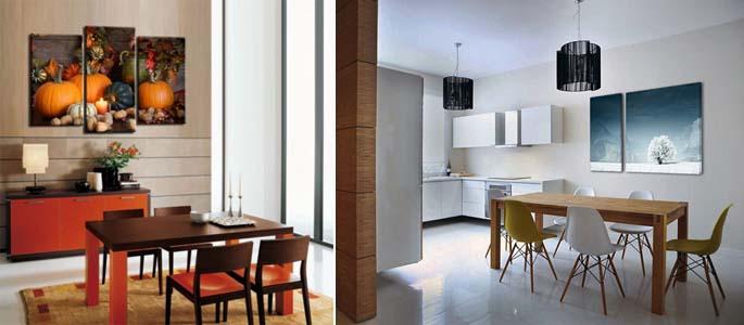 модульные картины на кухне