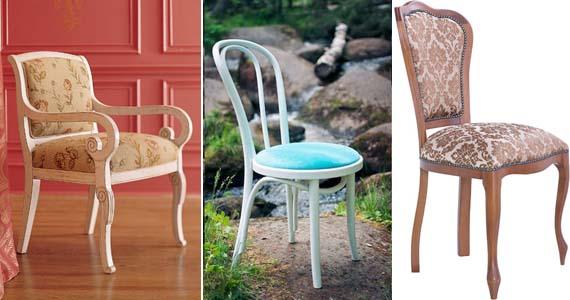 стулья с обивкой из гобелена, микрофибры и жаккарда