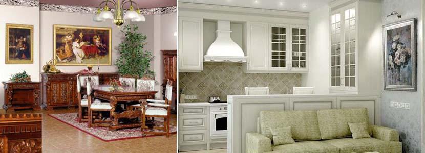 картины на классической кухне
