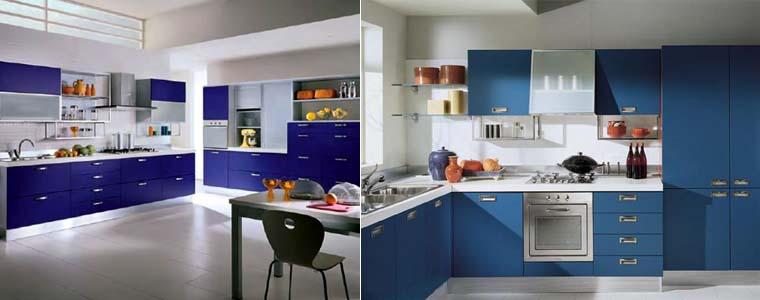 Фото кухни синего цвета