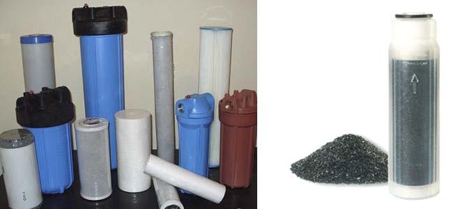 механический и угольные фильры