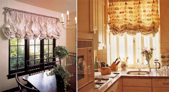 австрийские шторы для кухни