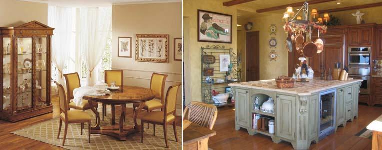 интерьер кухни в стиле бидермейер