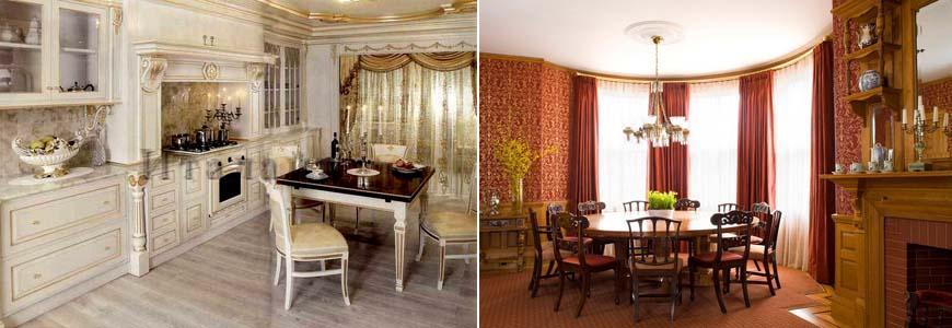 интерьер кухни в викторианском стиле