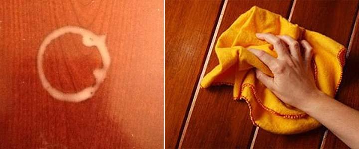 Как очистить шпон от пятен фото