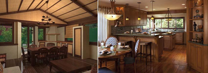 кухня в стиле бунгало