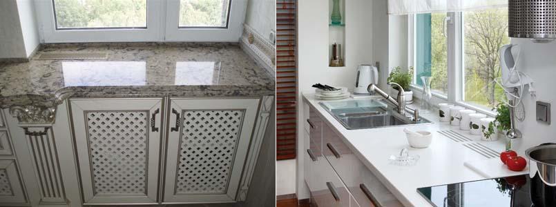 дизайн кухонного подоконника