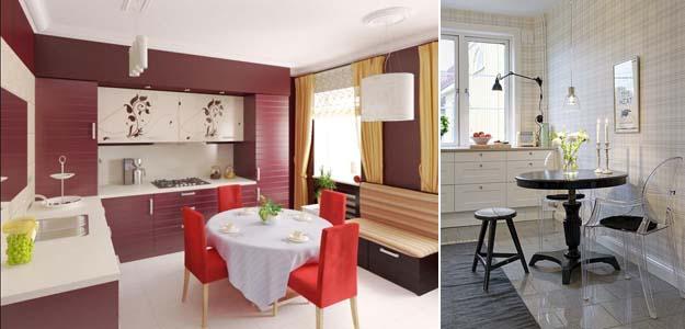 кухонные круглые столы