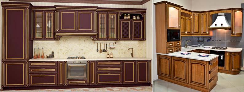 патинированные фасады на кухне