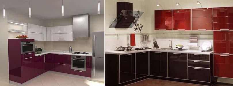 акриловые фасады на кухне