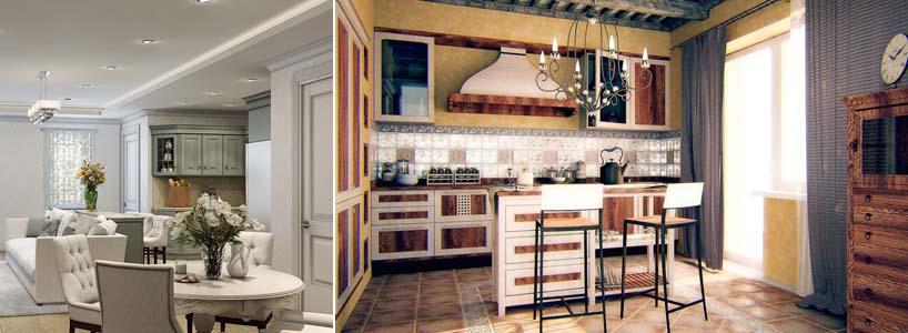 интерьер кухни в стиле гранж