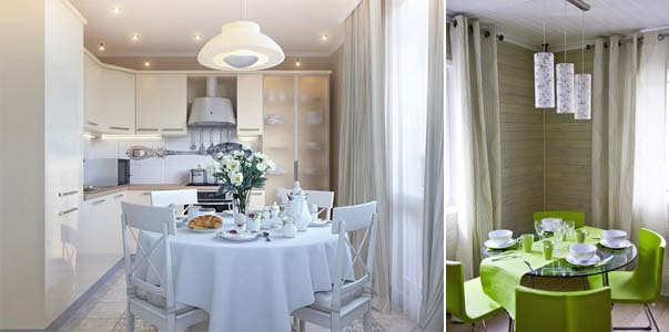 кухни с-круглым столом фото