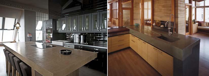 кухонная бетонная столешница